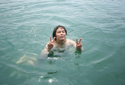 大芝島で泳ぐ